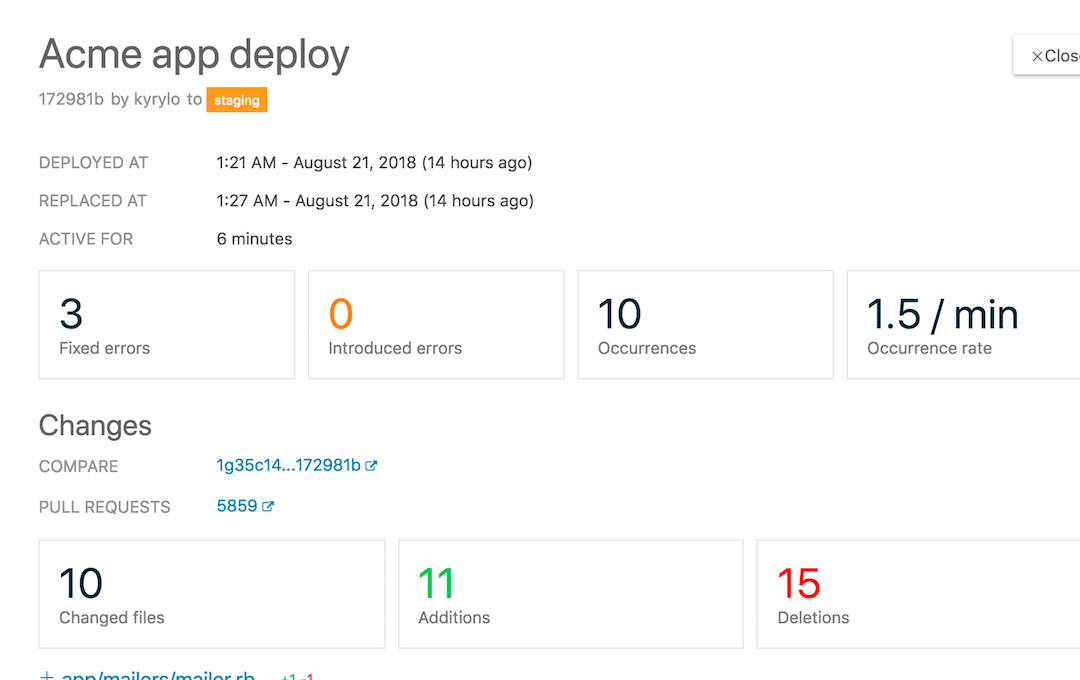 Find errors in all your deploys